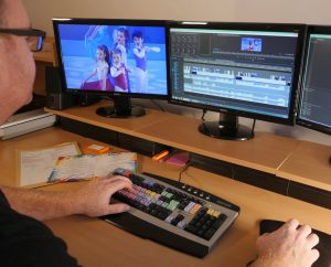 Editing a dance show at Wizard Video